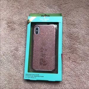 NWT ♠️ kate spade ♠️ pink glitter iPhone X case
